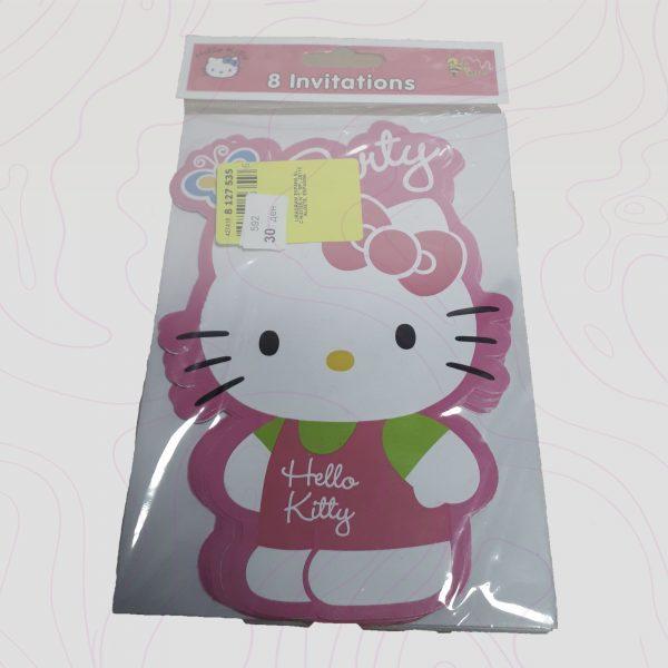 Hello kitty - Покани за роденден